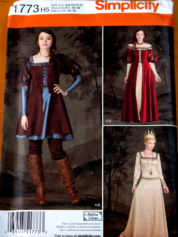 Simplicity Ladies Sewing Pattern 4092 18th Century Dresses Costumes Simplici...